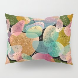 Midnight Maidenhair Fern Pattern Rainbow  Pillow Sham