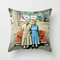 Two Cool Kitties: What's for Lunch? Throw Pillow