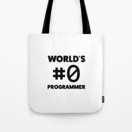 World's #0 programmer Tote Bag
