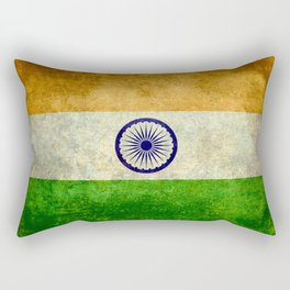 National flag of India - Vintage version Rectangular Pillow