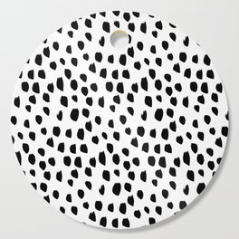 Hand drawn drops and dots on white - Mix & Match with Simplicty of life Cutting Board