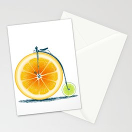 Orange Lime and an Old Bike Stationery Cards