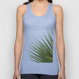 Tropical Palm Green Plant Leaf Minimalist Modern Photo Unisex Tank Top