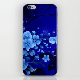 Cherry blossom, blue colors iPhone Skin