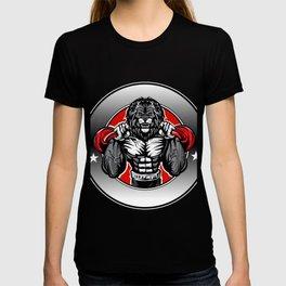 Illustration of a lion fighter T-shirt
