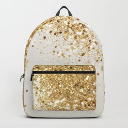 Sparkling Gold Glitter Glam #2 #shiny #decor #art #society6 Backpack