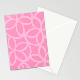 Modern Floral in Pink Stationery Cards