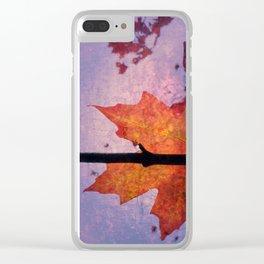 Autumn Sadness Clear iPhone Case