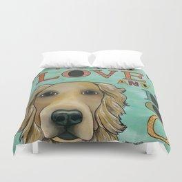 Love Dog Duvet Cover
