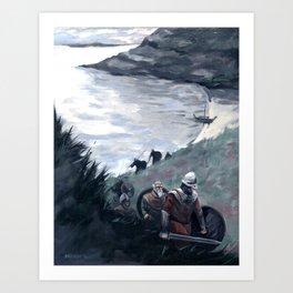 Settlers On A Familiar Shore Art Print