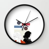 swan queen Wall Clocks featuring Swan Queen - Unique, maybe even special by lauragrimes