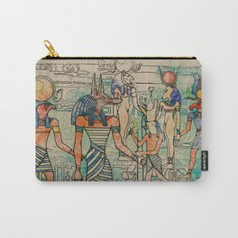 Egyptian Gods on canvas Carry-All Pouch