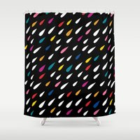Bright Droplets Shower Curtain
