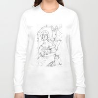 bunnies Long Sleeve T-shirts featuring Bunnies  by Jessica Bowman Illustrates
