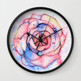 Colorful Rose Wall Clock