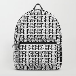 "Halloween Black And White ""Boo"" Ghost Backpack"