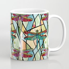 Dragonflies on Stained Glass Coffee Mug