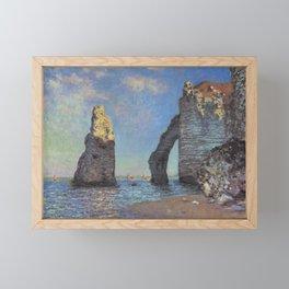 Claude Monet - The Cliffs at Etretat Framed Mini Art Print