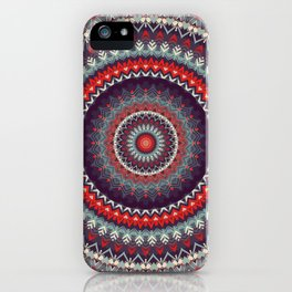 Red Skies Mandala iPhone Case