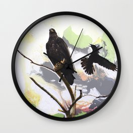 Eagle and Crow Wall Clock