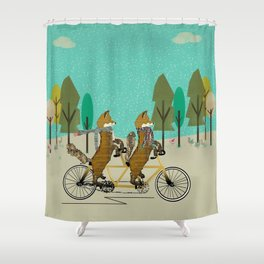 foxy days lets tandem Shower Curtain