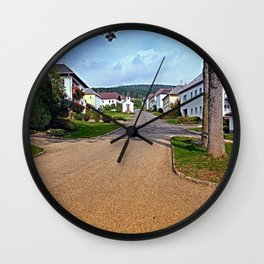 Picturesque small village center | architectural photography Wall Clock