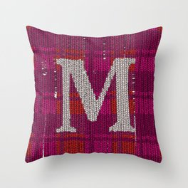 Winter clothes. Letter M. Throw Pillow
