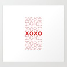 XOXO take-out inspired print Art Print