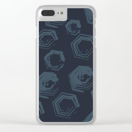 Open Polygons of Steel Clear iPhone Case