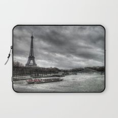 The Eiffel Tower and the Seine - Paris cityscape - hdr Laptop Sleeve