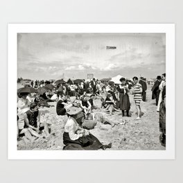 Getting their picture taken - Coney Island 1904 Art Print
