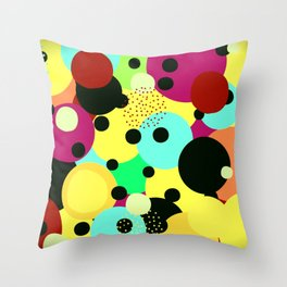 Imagine as cores !! Throw Pillow