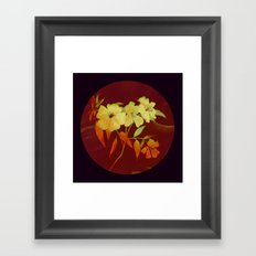 floral in Asian feel Framed Art Print