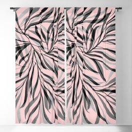 Pink Foliage I Blackout Curtain