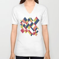matisse V-neck T-shirts featuring Map Matisse by Project M