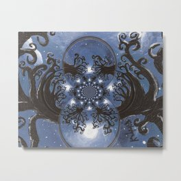 Full moon Fantasy Abstract Metal Print