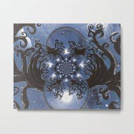Full moon Fantasy Abstract Metal Print