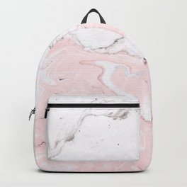 Blend of White Pink Marble Backpack