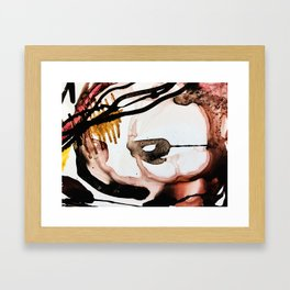 abstract  in brown Framed Art Print