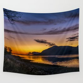 The Blue Hour over Loch Linnhe - Scottish Highlands Wall Tapestry