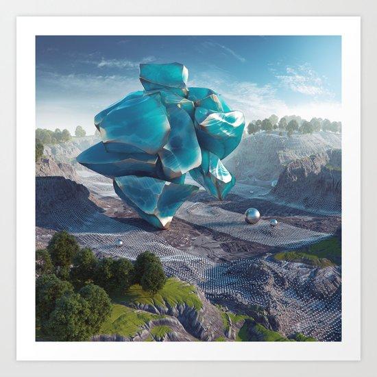 Blue Obsidian Art Print