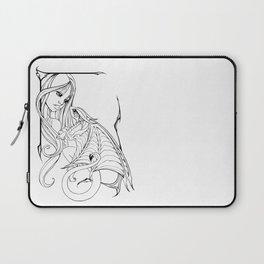 Girl and Dragon Laptop Sleeve
