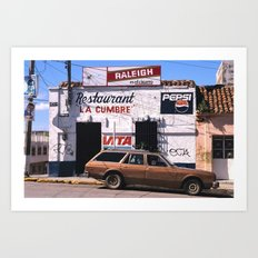 Mexico street scene Art Print