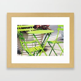 Lime Green Situation in NYC Framed Art Print