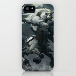 White Centaur iPhone Case