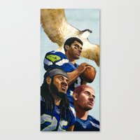 seahawks Canvas Prints featuring Seahawks by Chad Gowey