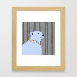Polar Bear Holiday Design Framed Art Print