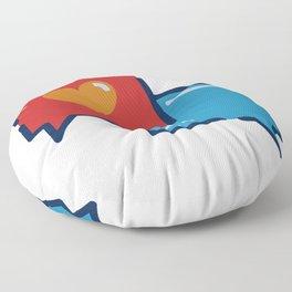 Love in the digital world  Floor Pillow