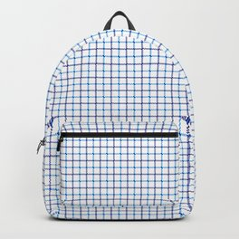 Small Blue & White Large Tattersall Check Pattern Backpack