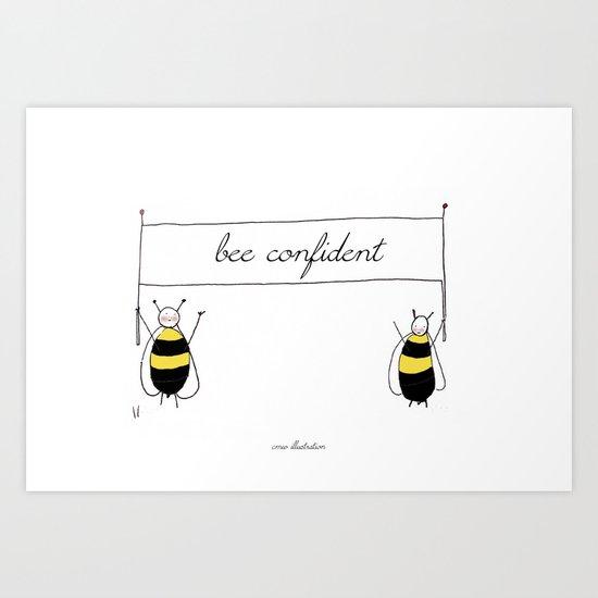 Bee Confident Illustration Art Print
